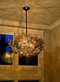 Flower Ball Hand Blown Glass Chandelier