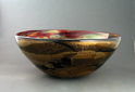 Black/Copper Ruby Gold Hand Blown Glass Sink