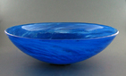 Blue Water Hand Blown Glass Sink