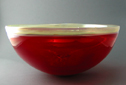 Cherry Gold Hand Blown Glass Sink