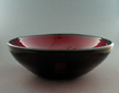 Copper Ruby Black Lip Hand Blown Glass Sink