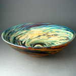 Hand blown glass sinks.